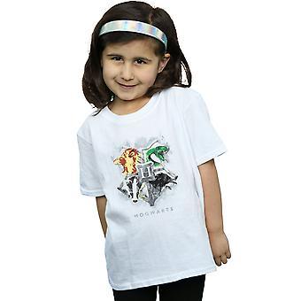 Harry Potter Girls Hogwarts Painted Crest T-Shirt