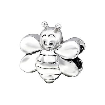 Bee - 925 Sterling Silver Plain Beads - W28196x