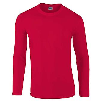 Gildan Mens Softstyle lång ärm Ultra Cotton Crew Neck T-Shirt