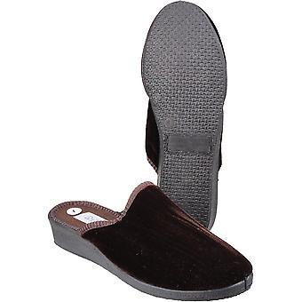 Mirak mujeres/damas señoras clasica terciopelo textil zapatillas