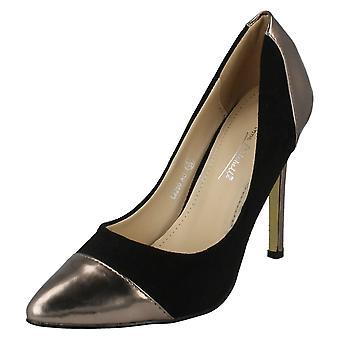 Damen Anne Michelle wies Toe Cap High Heel Gericht Schuh L2250