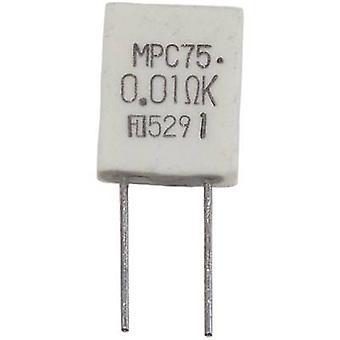 Fukushima Futaba MPC75 5W 0,05 Ohm 10% Metal film modstand 0,05 Ω Radial føre MPC75 5 W 10% 1 computer(e)