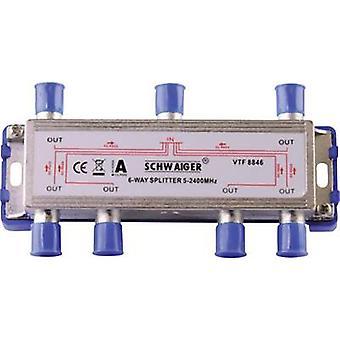 Schwaiger VTF8846 SAT-Splitter 6-Wege 5 - 2400 MHz