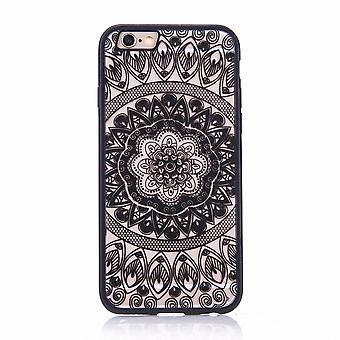 Mandala Mobile Shell pour Samsung Galaxy J5 2017 conception housse motif cercle housse bumper noir