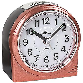Atlanta 1956/18 alarm clock quartz analog copper colors quietly without ticking with light