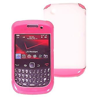 OEM Verizon Double Cover Case pour BlackBerry Curve 3G 9330 (Pink / White) (Bulk Packaging)