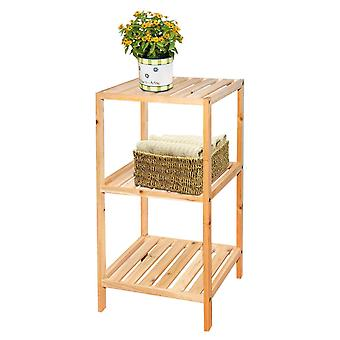 Knight Pippa 3 Tier Wooden Shelf Natural Colour Easy to Store, Sturdy and Durable