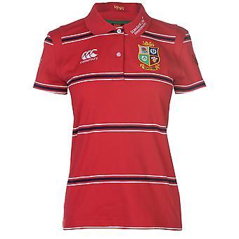 Womens Canterbury des Lions britanniques et irlandais Rugby Shirt Polo dames