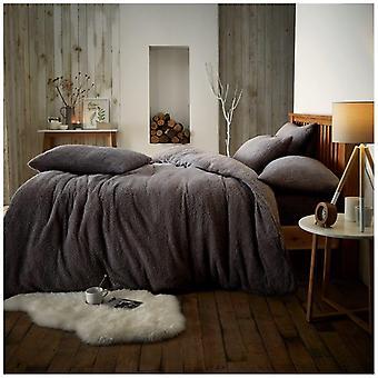 Teddy Fleece Duvet Quilt Cover Super Soft  Bedding Set All Sizes