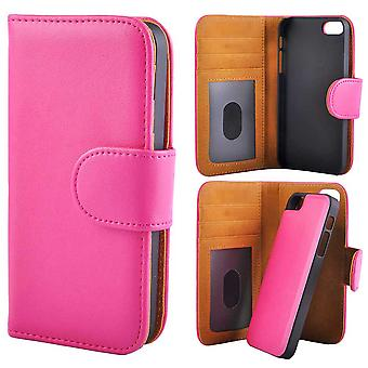 Wallet case with detachable Magnet shell iPhone 5/5s/SE Pink