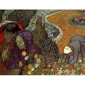 Ladies of Arles, Vincent Van Gogh, 50x40cm