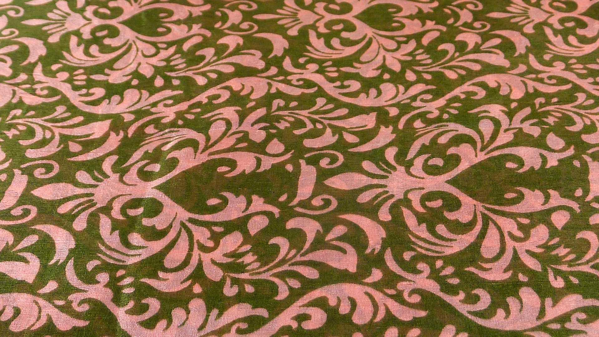 Mulberry Silk Contemporary Square Scarf Akola Coral by Pashmina & Silk