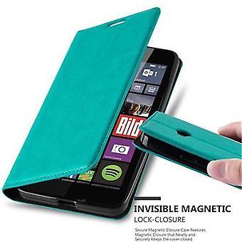 Cadorabo Hülle für Nokia Lumia 640 Case Cover - Handyhülle mit Magnetverschluss, Standfunktion und Kartenfach – Case Cover Schutzhülle Etui Tasche Book Klapp Style