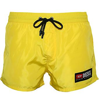 Diesel Side Logo Swim Shorts, Yellow