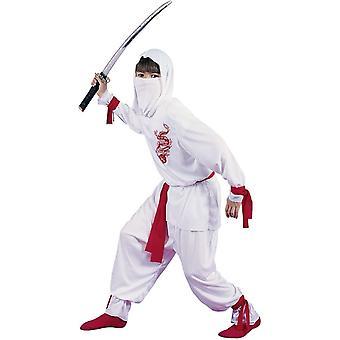 Valkoinen lohikäärme Ninja lapsi puku