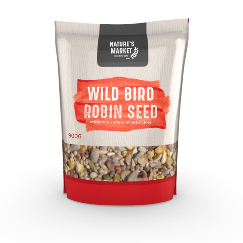 Natures Market 0.9kg (2 lbs) Bag of High Energy Robin Feed Mix Wild Bird Food