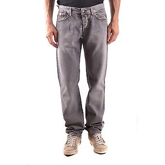 Daniele Alessandrini Ezbc107049 Men's Grey Cotton Jeans