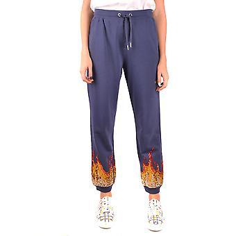 Zoe Karssen Ezbc122002 Women's Blue Cotton Pants