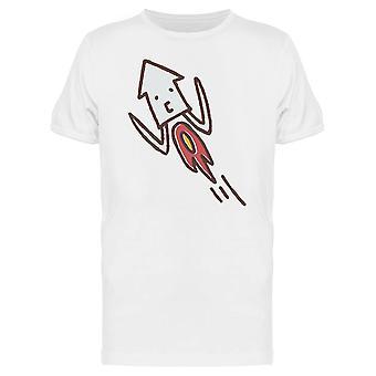 Rakete Tintenfisch Doodle T-Shirt Herren-Bild von Shutterstock