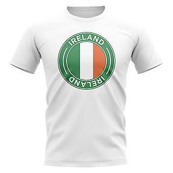 Irlanda calcio distintivo t-shirt (White)