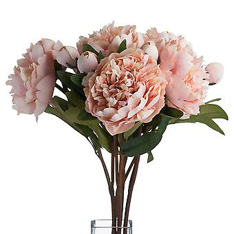 Hill Interiors Faux Peach Peony Rose