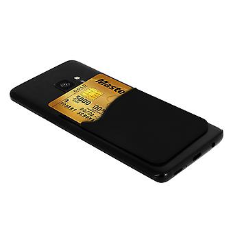 Smartphone and Tablet Credit Card Holder, black silicone sticker