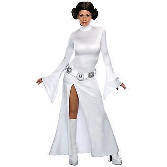 Sexy Prinzessin Leia Star Wars Disney lizenziert Frauen Kostüm mit Perücke