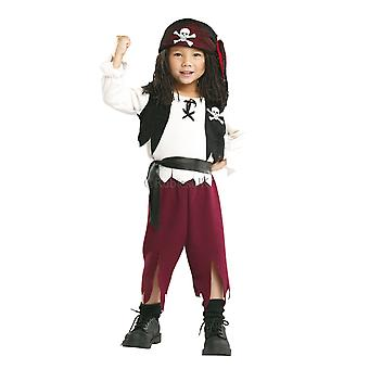 القراصنة الكابتن السفاح Swashbuckler كاريبيان Buccaneer طفل الأولاد زي T