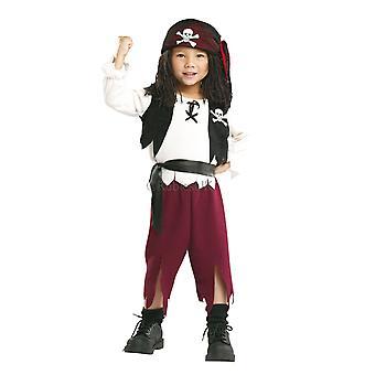 Pirate kapteeni Cutthroat swashbuckler carribean Buccaneer taapero pojat puku T