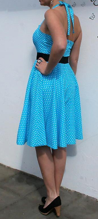 Kjole halterneck rockabilly-polka Coctail kjole