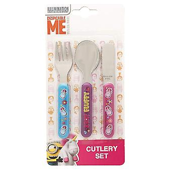 Despicable Me Fluffy Kids/Childrens Cutlery Set