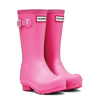 Hunter Original Kids Girls Wellingtons - Fuchsia Pink