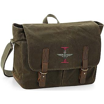 1er Bataillon Parachute Regiment - Licensed British Army Embroidered Waxed Canvas Messenger Bag