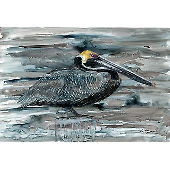 Carolines Treasures  8946PLMT Pelican in Grey Fabric Placemat