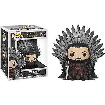 Game of Thrones Jon Snow on Iron Throne Pop! Deluxe
