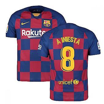 2019-2020 Barcelona Home Nike Camiseta de Fútbol (A INIESTA 8)