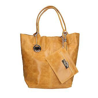 Läder handväska tillverkad i Italien P5190