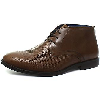 Red Tape Nappa Tan Mens Formal Boots