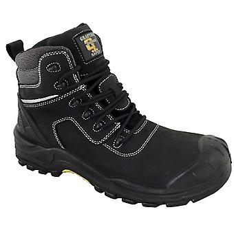 Grafters Mens Leather Laced 6in Safety Boot