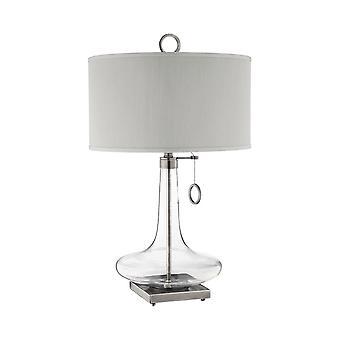 Antique brass, clear eden table lamp stein world