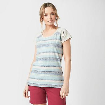 New Weird Fish Women's Rosanna Striped Short Sleeve T-Shirt Light Blue