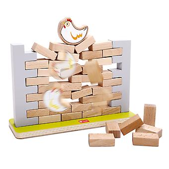 Classic World - Wooden Pick a Brick Stacking Tumble Tower Jenga Style Wall Game, Balancing and Learning