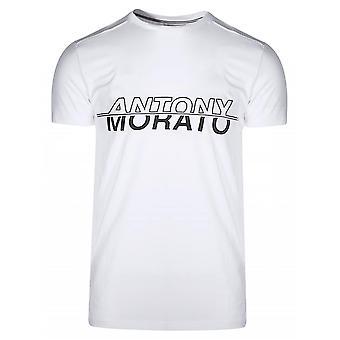 Antony Morato Sport White & Black Print Logo T-Shirt