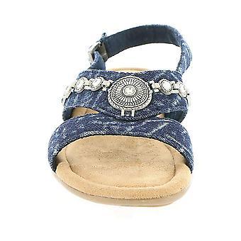 Minnetonka Womens Selene Open Toe Casual Slingback Sandals