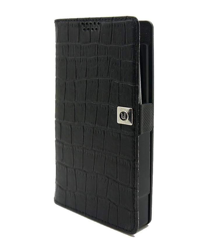 Small Universal Slider Folio - Croc Black