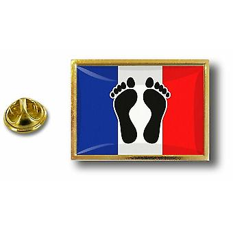 Pins Pin Badge Pin's Metal  Avec Pince Papillon Drapeau France Pieds Noirs