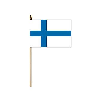 "Finland medium hand flag 9"" x 6"""