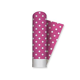 Fuchsia Polka Dots 1.2 x 5m Damask Tablecover Party Decoration