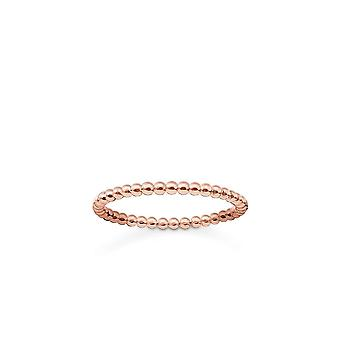 Thomas Sabo Sterling Silver Thomas Sabo Rose Gold Dot Ring TR2122-415-12