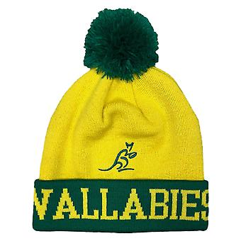 Australia Rugby Wallabies Bobble Beanie Hat | Yellow | 2019/20 Season | Adult Size